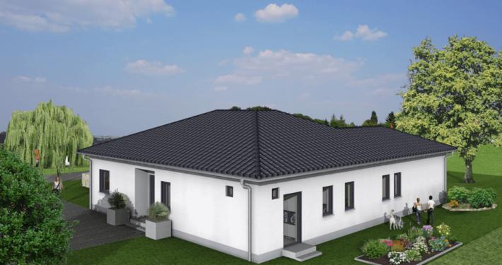 mainHAUS - Häuser: Bungalow 3D-Ansicht