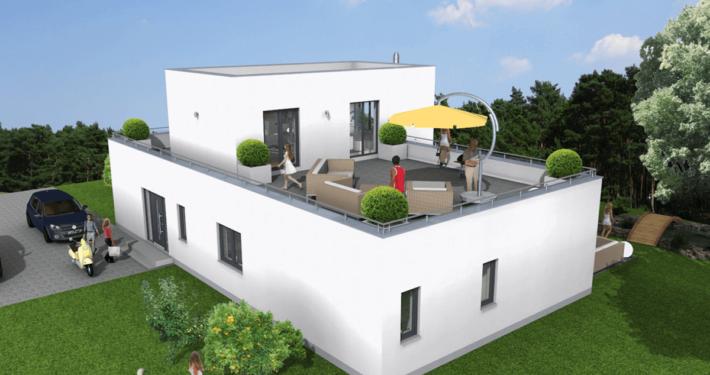 mainHAUS - Häuser: Cubushaus 3D-Ansicht