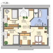 mainHAUS - Häuser: Jungfamilienwohnhaus Grundriss OG