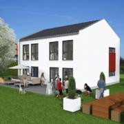 mainHAUS - Häuser: Stadthaus 3D-Ansicht