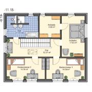 mainHAUS - Häuser: Stadthaus Grundriss OG