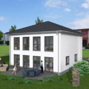 mainHAUS - Häuser: Stadtvilla 3D-Ansicht