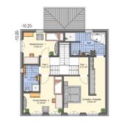 mainHAUS - Häuser: Stadtvilla Grundriss OG