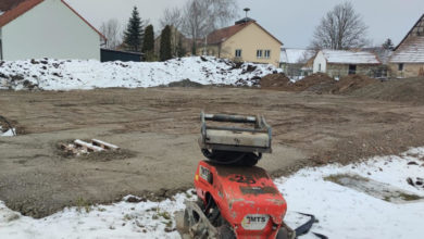 Bungalow mit Satteldach, Oberschwarzach: Erdarbeiten