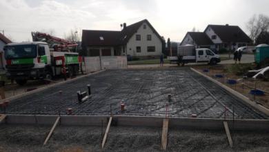 Bungalow mit Satteldach, Oberschwarzach: Bodenplatte