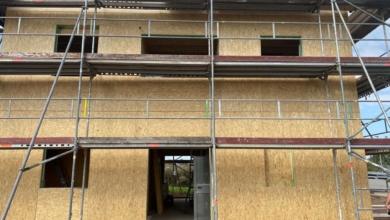 mainHAUS - Cubushaus Schweinfurt - Hausmontage