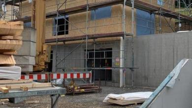 mainHAUS - Individualhaus Schraudenbach - Haus wird aufgestellt