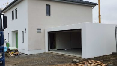 mainHAUS - Stadtvilla Poppenhausen Garagenanlieferung